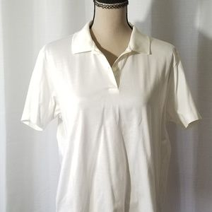 Astra Classic ivory polo Shirt. Size L